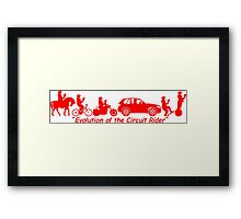 Evolution of the Circuit Rider Framed Print