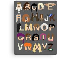 Harry Potter Alphabet Canvas Print