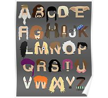 Harry Potter Alphabet Poster