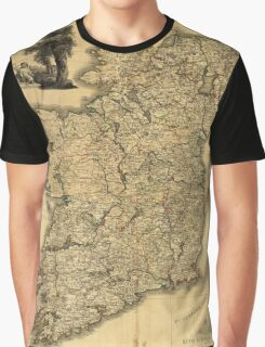 Vintage Map of Ireland (1797) Graphic T-Shirt