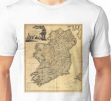 Vintage Map of Ireland (1797) Unisex T-Shirt
