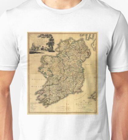 Vintage Map of Ireland (1797) Unisex T-Shirt