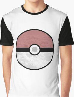Pokemon Pokeball Clouds Graphic T-Shirt