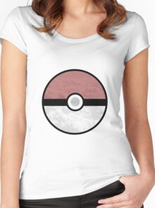 Pokemon Pokeball Clouds Women's Fitted Scoop T-Shirt