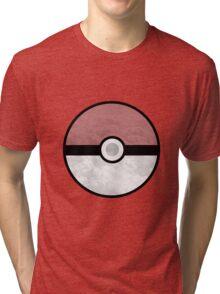 Pokemon Pokeball Clouds Tri-blend T-Shirt