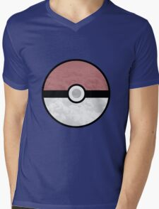 Pokemon Pokeball Clouds Mens V-Neck T-Shirt