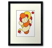 Warm orbs Framed Print