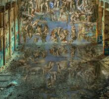 Apocalyptic Vision of the Sistine Chapel Rome 2020 Sticker
