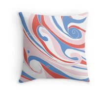 Abstract Pinky Waves Pattern Throw Pillow