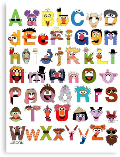 Sesame Street Alphabet by Mike Boon
