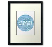Water Vampire Weekend Logo Framed Print