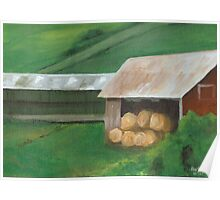 Vermont, red barn Poster