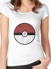 Pokemon Pokeball Flower Women's Fitted Scoop T-Shirt
