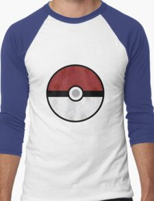 Pokemon Pokeball Flower Men's Baseball ¾ T-Shirt