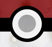 Pokemon Pokeball Flower Sticker