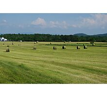 Hay In Vermont Photographic Print