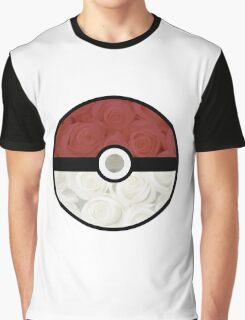Pokemon Pokeball Roses Graphic T-Shirt
