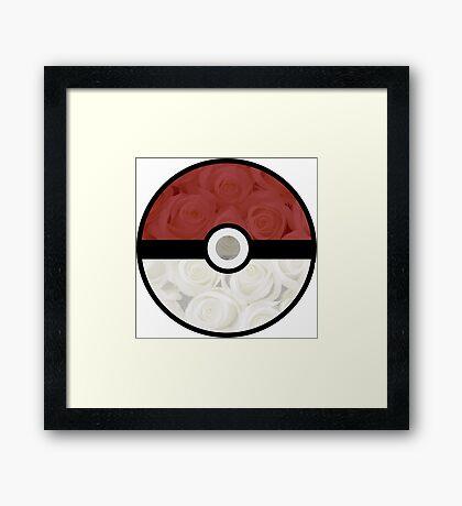 Pokemon Pokeball Roses Framed Print