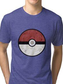 Pokemon Pokeball Roses Tri-blend T-Shirt