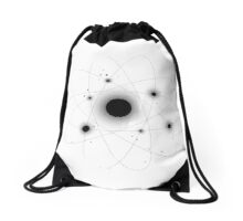 Atomic Moon (White) Drawstring Bag