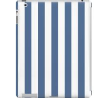 Riverside Blue and White Large Vertical Cabana Tent Stripe iPad Case/Skin