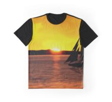 Sunset Boating Graphic T-Shirt
