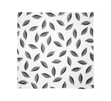 Lino cut printed pattern, nature inspired, handmade, black and white Scarf