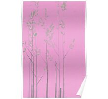 Mint Trees on a Pink Day Poster