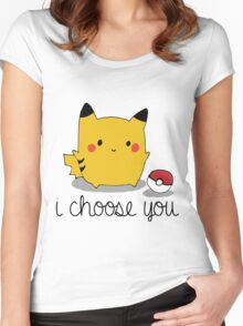 I CHOOSE YOU PIKACHU Women's Fitted Scoop T-Shirt