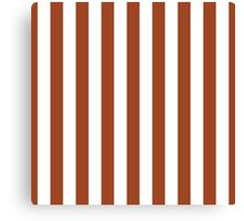 Potters Clay and White Large Vertical Cabana Tent Stripe Canvas Print