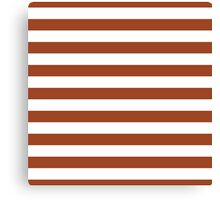 Potters Clay and White Large Horizontal Cabana Tent Stripe Canvas Print
