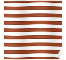 Potters Clay and White Large Horizontal Cabana Tent Stripe Poster