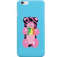 Zebra Print Gummy Bear holding Gummy Bears iPhone Case/Skin