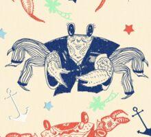 Nautical Formal Crabs Sticker