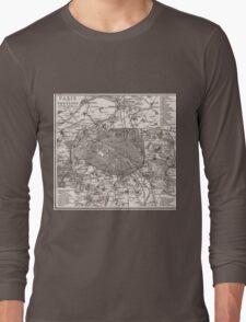Vintage Map of Paris France (1873) Long Sleeve T-Shirt