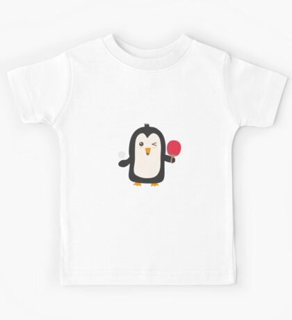 Penguin table tennis   Kids Tee