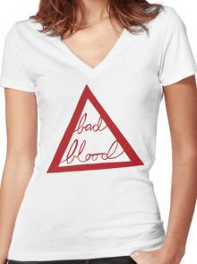 Bad Blood Women's Fitted V-Neck T-Shirt