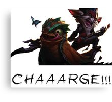 Kled - League of Legends : CHARGE ! Canvas Print