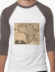 Vintage Map of Africa (1688) Men's Baseball ¾ T-Shirt