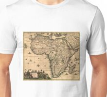 Vintage Map of Africa (1688) Unisex T-Shirt