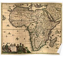 Vintage Map of Africa (1688) Poster