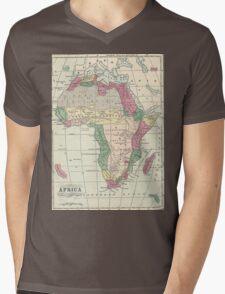 Vintage Map of Africa (1872) Mens V-Neck T-Shirt