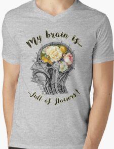 Brain Full Of Flowers Dictionary Art Mens V-Neck T-Shirt