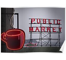 cold day ... hot coffee Poster