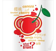 FruitHeads - cherry Poster