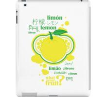 FruitHeads - lemon iPad Case/Skin