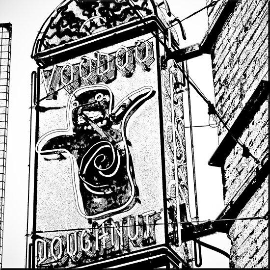 voodoo doughnut by Bruce  Dickson
