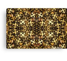 Black and Gold Fleur de Lis Bead Mix 2 Canvas Print