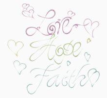 Love Hope Faith One Piece - Short Sleeve