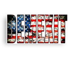 demexit american flag Canvas Print